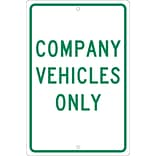 Parking Signs; Company Vehicles Only, 18X12, .063 Aluminum