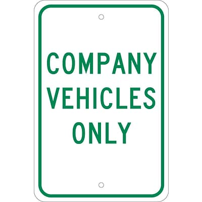 Parking Signs; Company Vechicles Only, 18X12, .080 Egp Ref Aluminum
