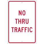 Traffic Warning Signs; No Thru Traffic, 18X12, .063 Aluminum