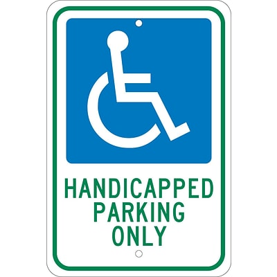Parking Signs; Graphic, Handicapped Parking Only 18X12, .080 Egp Ref Aluminum