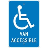 Traffic Warning Signs; Graphic, Van Accessible, 18X12, .080 Egp Ref Aluminum