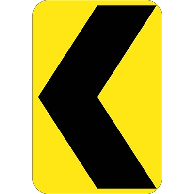 Directional Signs; (Graphic Chevron Arrow), 18X12, .080 Hip Ref Aluminum