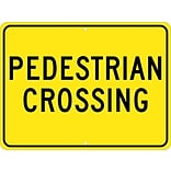 Traffic Warning Signs; Pedestrian Crossing, 18X24, .080 Hip Ref Aluminum