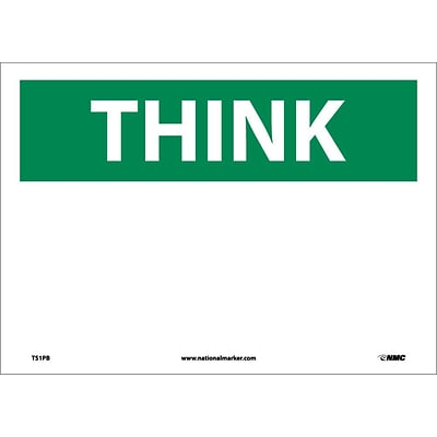 Information Labels; Think, (Heading Only), 10X14, Adhesive Vinyl