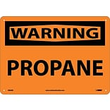 Warning Sign; Propane, 10X14, Rigid Plastic