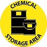 Floor Signs; Walk On, Chemical Storage Area, 17 Dia