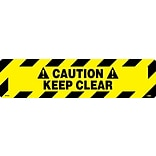 Floor Signs; Walk On, Caution Keep Clear, 6X24