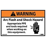 Warning Sign; Arc Flash And Shock Hazard Appropriate Ppe And Tools Required When Working On…
