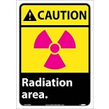 Caution Labels; Radiation Area, 14X10, Adhesive Vinyl
