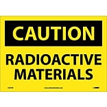 Caution Labels; Radioactive Materials, 10X14, Adhesive Vinyl