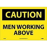 Caution Labels; Men Working Above, 10X14, Adhesive Vinyl