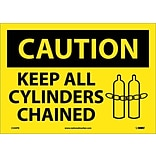 Caution Labels; Keep All Cylinders Chained, Graphic, 10X14, Adhesive Vinyl