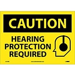 Caution Labels; Hearing Protection Required, Graphic, 10X14, Adhesive Vinyl
