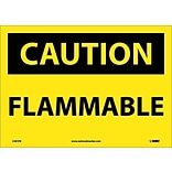 Caution Labels; Flammable, 10X14, Adhesive Vinyl