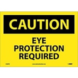 Caution Labels; Eye Protection Required, 10X14, Adhesive Vinyl