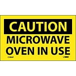 Caution Labels; Microwave Oven In Use, 3X5, Adhesive Vinyl, 5/Pk