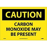 Caution Labels; Carbon Monozide May Be Present, 10X14, Adhesive Vinyl