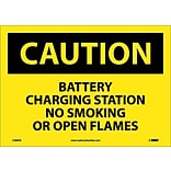 Caution Labels, Battery Charging Station No Smoking. . ., 10X14, Adhesive Vinyl