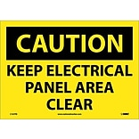 Caution Labels; Keep Electrical Panel Area Clear, 14X10, Adhesive Vinyl