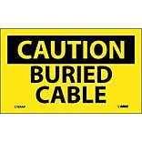 Caution Labels; Buried Cable, 3X5, Adhesive Vinyl, 5/Pk