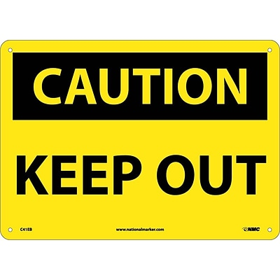 Caution Signs; Keep Out, 10X14, Fiberglass