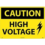 Caution Signs; High Voltage, Graphic, 20X28, .040 Aluminum