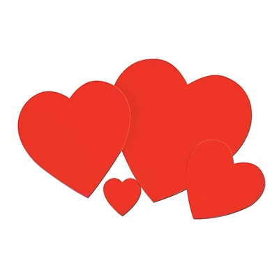 Beistle 15 Printed Heart Cutouts; 10/Pack