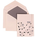 JAM Paper® Wedding Invitation Set, Large, 4 3/4 x 6 1/8, Grey Card with Grey Lined Envelopes, 50/pac