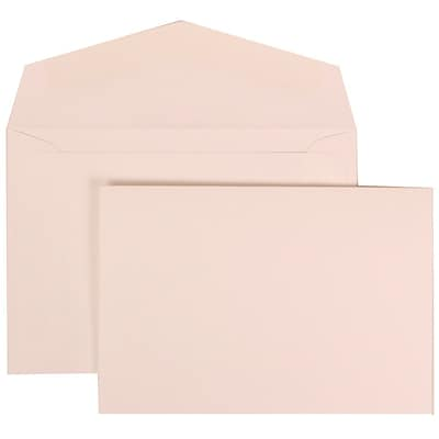 JAM Paper® Wedding Invitation Set, Small, 3 3/8 x 4 3/4, White Note Cards with Plain White Envelopes, 100/pack (304325163)