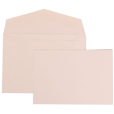 JAM Paper® Wedding Invitation Set, Small, 3 3/8 x 4 3/4, 100 White Cards with 100 White Envelopes, 100/set (304325164)