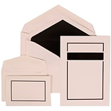 JAM Paper® Wedding Invitation Combo Sets, 1 Sm 1 Lg, White Cards with Black Border, Black Lined Enve