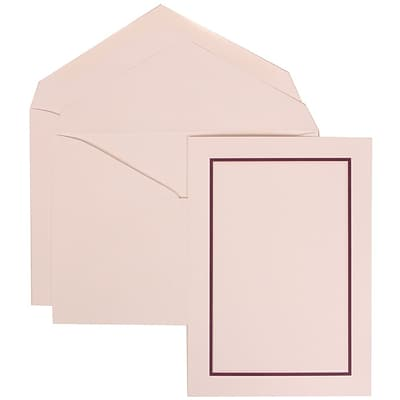 JAM Paper® Wedding Invitation Set, Large, 5.5 x 7.75, White Cards with Purple Border, White Envelopes, 50/pack (310625138)