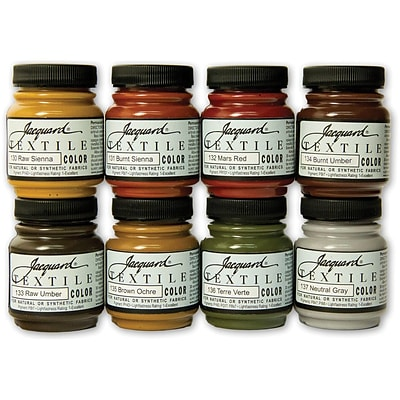 Jacquard Textile Color Paint Set, Earth Tones
