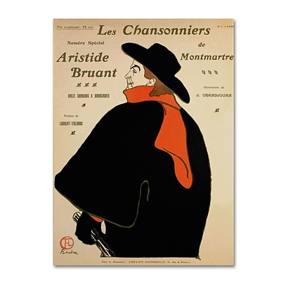 Trademark Fine Art Les Chansonniers De 18 x 24 Canvas Art