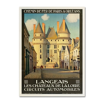 Trademark Fine Art Les Chateaux de la Langeais 24 x 32 Canvas Art