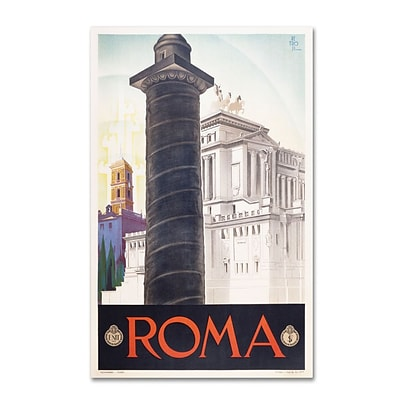 Trademark Fine Art Roma 16 x 24 Canvas Art