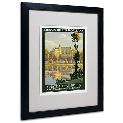 Trademark Fine Art Chateau DAmboise 16 x 20 Black Frame Art