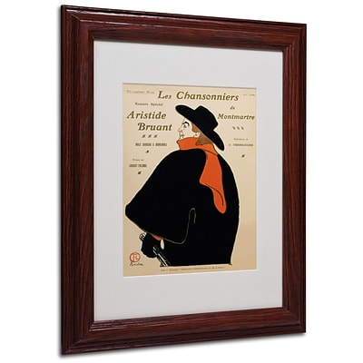 Trademark Fine Art Les Chansonniers De 11 x 14 Wood Frame Art