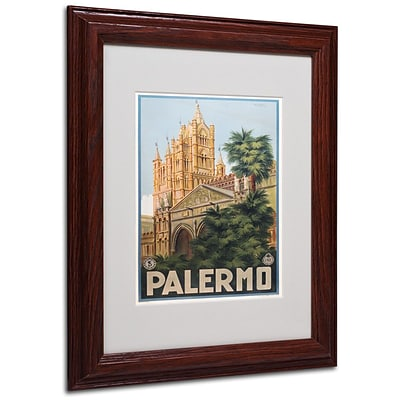 Trademark Fine Art Palermo 11 x 14 Wood Frame Art