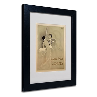 Trademark Fine Art Rena May Et Gerardy 11 x 14 Black Frame Art