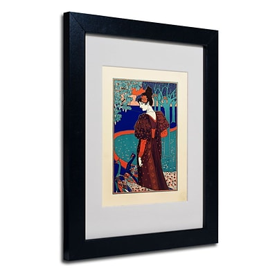 Trademark Fine Art Rhead 11 x 14 Black Frame Art