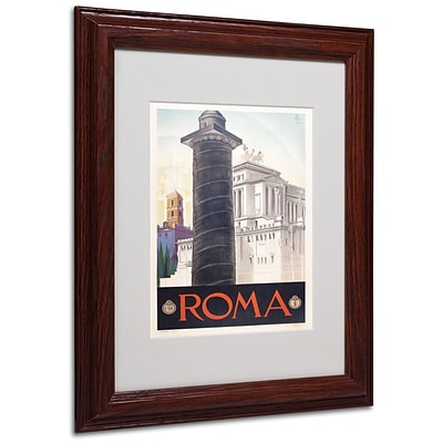 Trademark Fine Art Roma 11 x 14 Wood Frame Art