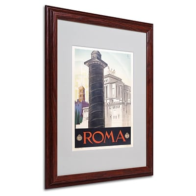 Trademark Fine Art Roma 16 x 20 Wood Frame Art