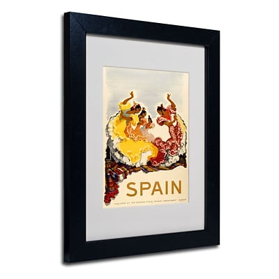 Trademark Fine Art Spain - Women Dancing 11 x 14 Black Frame Art