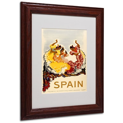 Trademark Fine Art Spain - Women Dancing 11 x 14 Wood Frame Art
