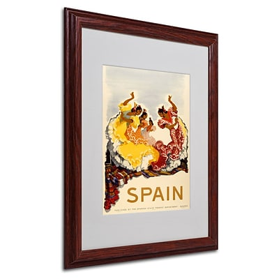 Trademark Fine Art Spain - Women Dancing 16 x 20 Wood Frame Art