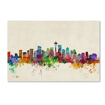 Trademark Fine Art Seattle, Washington 30 x 47 Canvas Art
