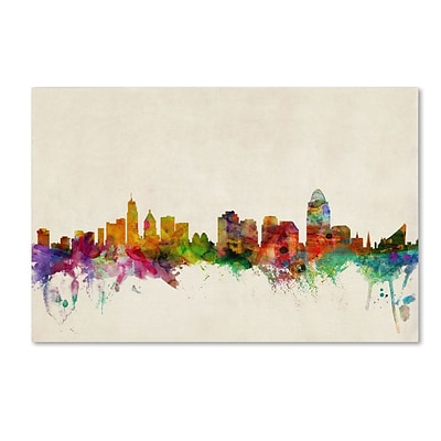 Trademark Fine Art Cincinnati, Ohio 22 x 32 Canvas Art