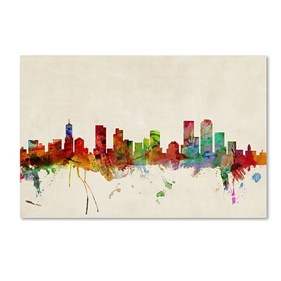 Trademark Fine Art Denver, Colorado 30 x 47 Canvas Art