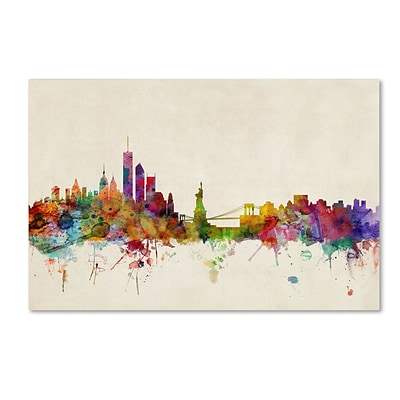 Trademark Fine Art New York, New York 22 x 32 Canvas Art